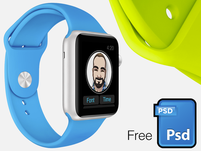  Watch screenshot mock kit [PSD] ui photoshop ux psd vector apple focuspixels iwatch watch screenshot mockup free