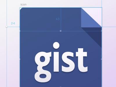 Github Flat Icons flat git icontainer osx iterm ruby markdown gist github icon