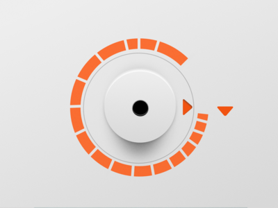 🎛🎚 Control Knob: Braun H7 hardware vector dial UI (Sketch)