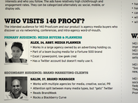 140 Proof visual treatment brief - sneak peek