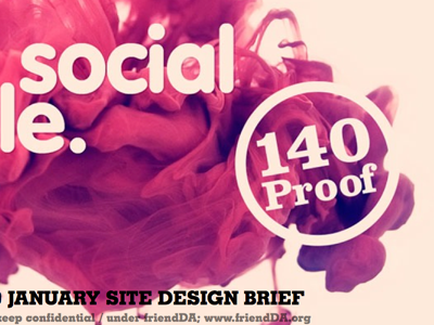 140 Proof visual treatment brief - sneak peek 140proof peek peep imgviaalbertoseveso startup