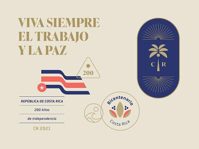 200 Years of Costa Rica pura vida central america costa rica graphic design visual design design shapes geometric mark logotype logo badge badge design illustration branding