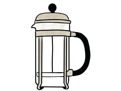 Coffee Maker - French Press - Illustration