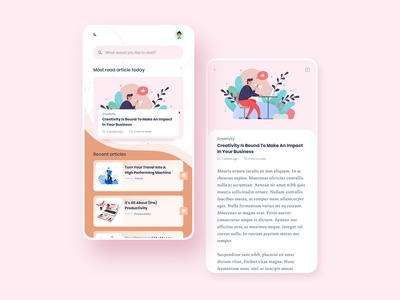 Mobile Blog Design - Perfect for reading quality content