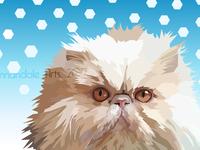 Floyd the Persian Cat - Vector Portrait