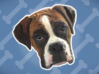 Poly Portrait - Jesse the Boxer Dog