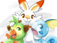 Pokemon - Gen 8 Starters