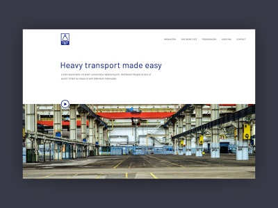 Hover Transport Systems - air casters to move heavy loads minimal ui design branding ux webdesign