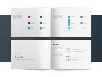 Brand identity standard - Acknowledge design clean logo brandbook branding