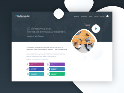 Acknowledge - ICT solutions and services ux design branding webdesign identity