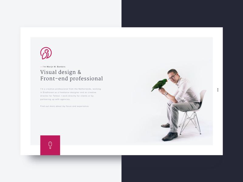Personal portfolio website — Marijn W  Bankers by Marijn W