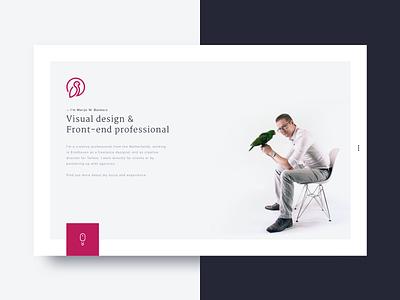 Personal portfolio website — Marijn W. Bankers design minimal clean animation vue.js porfolio webdesign