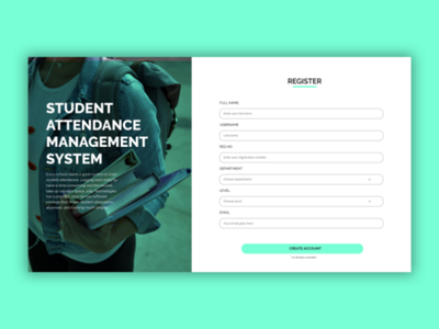 Student Attendance Management UI concept dailyui student