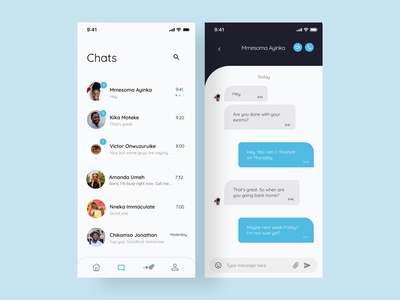 Direct Messaging UI concept