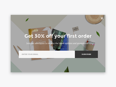Subscribe Popup notification email newsletter minimal ux ui subscribe popup