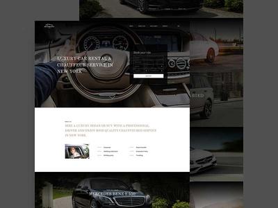 Car Rent Landing rent luxury web wordpress minimal clean landing car ux ui