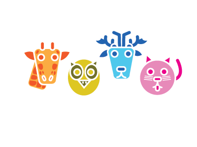 Animalhive By Colorhive color flat animals illustration