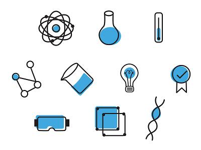 Scientist Icons vector children scientist stem science icons illustration