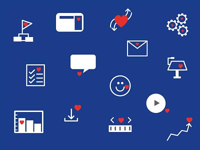 Healthy Heart - Icon Set flat icons set icons illustration