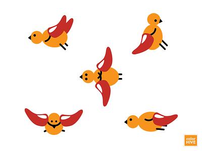 SpicyWings sticker avatar fun flat kids children icons illustration