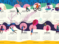 colorHIVE calendar 2019
