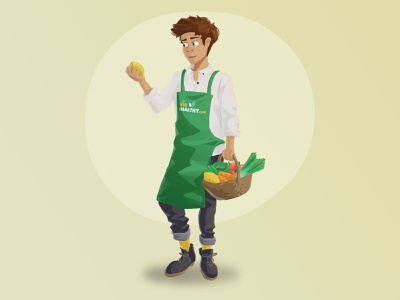 VieHealthy.com Nutrition expert healthyfood healthy food man guy digital painting web brush illustration character design character