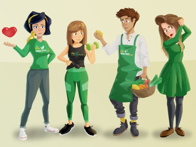 VieHealthy.com Expert Team health beauty sport man work woman girl healthyfood food healthy characterdesign character