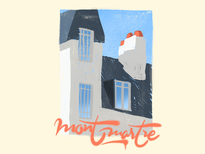 Montmartre procreate sky windows landscape illustration sketch doodle