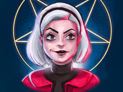 Spellman characterdesign wizard witch girls sabrina spellman illustration portrait