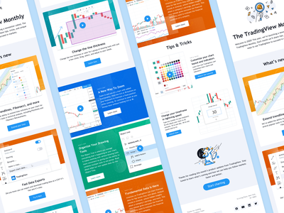 Email template for TradingView screenshots illustration marketing product design email design