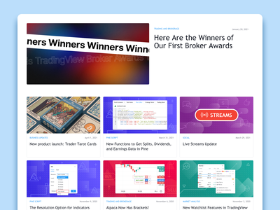TradingView Blog design web images pattern uiux ui product design design blog