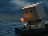 A sad box-boy