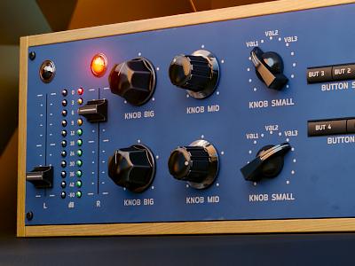 Modern Comp Artwork interface kit synth audio compressor gui vintage template ui