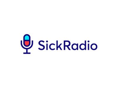 SickRadio / Logodesign mic melody music listening listen satisfied happy good mood garnys ui  ux ui minimalist minimalism geometric waves medicine pill sick microphone radio