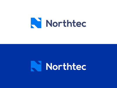 N / Northtech logo design stock production produce device product branding create facbrication fabricate complete construct assemble identity mark garnys technology tech geometric lettern manufacture product