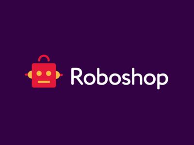 Roboshop whip wires signal antenna toys automatic cybord garnys roboto handle bag showroom market price shop robotics robot identity geometric logo design