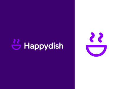 Happydish / Emote app icon minimalism ux ui design ui garnys logo design mark identity pleased pleasant delighted joyful glad eyes lips emotion happy face happy dish