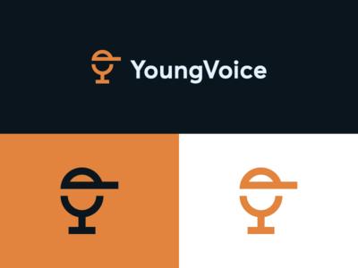 Mic / YoungVoice talk garnys minimalism identity mark energy conversation speech radio signal emotion walkman budding youthful wire cap young podcast voice microphone
