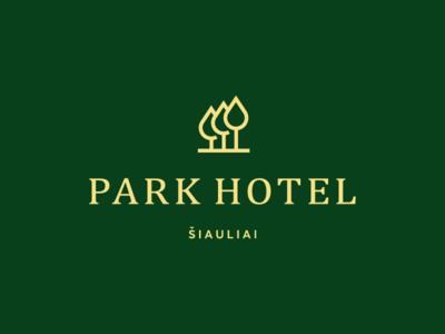 Park Hotel tree drop symbol minimalism geometric mark identity logo design garnys calm place estate garden forest hostel resort relax royal park hotel