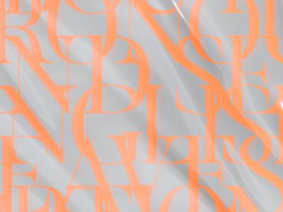 Clank serif nylon mockup plastic neon typography editorial
