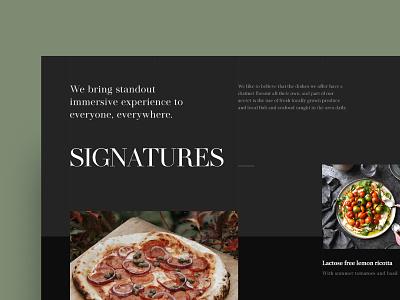 Restaurant Landing Page landing website ux ui