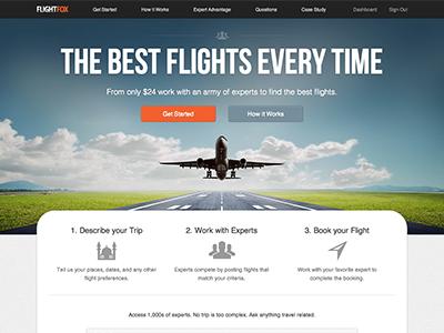 Flightfox Home Page flightfox homepage