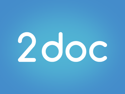 2doc blue logo typography graphic lettering