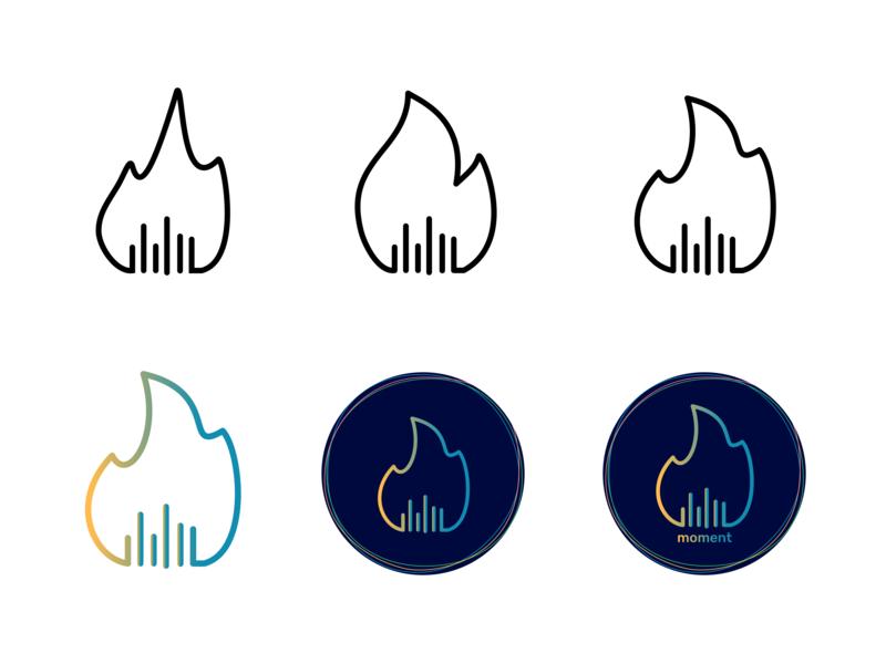 Logo Evolution graphic design gradient exploration evolution minimal illustration app icon branding vector logo design
