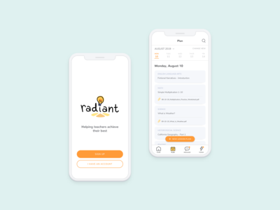 Radiant: teacher support app concept