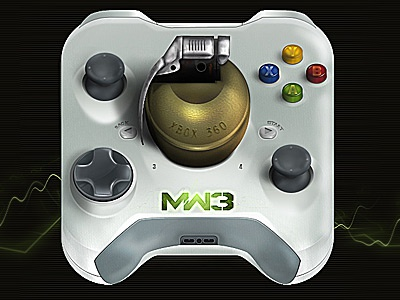Mw3 Xbox360 photoshop call of duty mw3 xbox360 icon application iphone ipad apple button painting