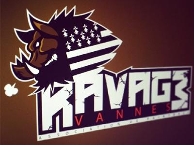 Ravage  concept symbol brand logo paintball association mascotte warthog