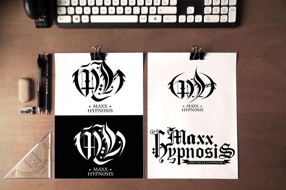 Maxxhypnosis logo design