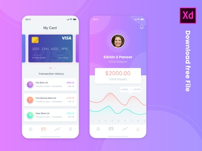 Money Transfer App UI Concept tabs chart graphs assets money app banks creditcard debit card expense tracker money transfer
