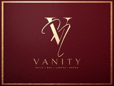 vanity nails salon luxury logo elegant logo elegant design feminine logo cosmetic logo beauty logo logo design branding logos luxury logo brand design logodesign